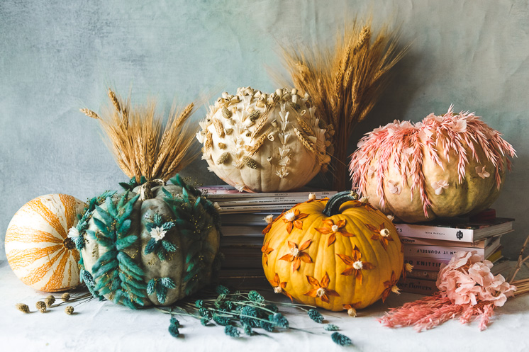 Preserved Flower Pumpkins