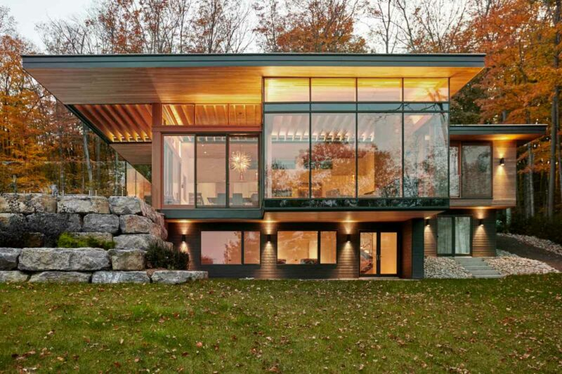 A Stylish Pair Of Modern Cottages Lost Among The Beautiful Canadian Landscape