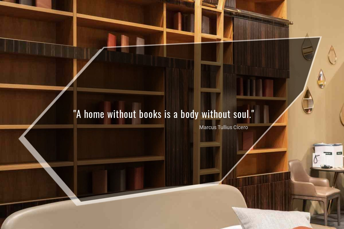 A home without books is a body without soul - Marcus Tullius Cicero