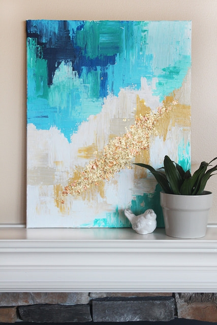20 Diy Easy Abstract Painting Ideas To Fill The Empty Walls