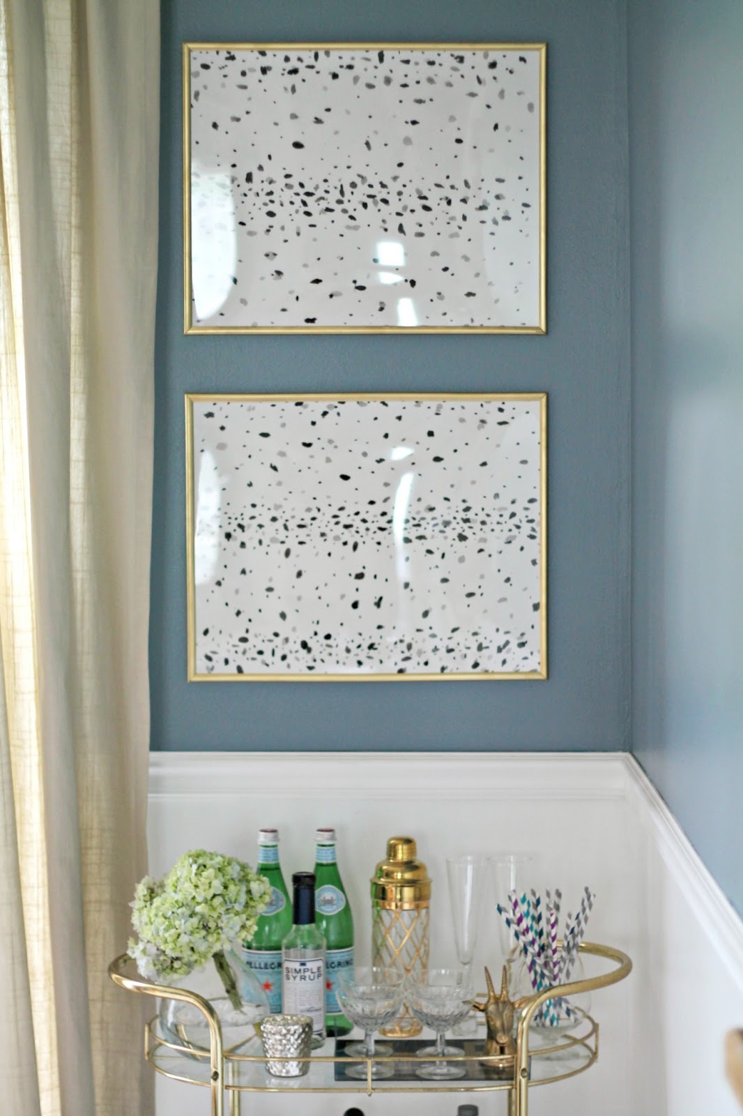 DIY Black and White Spotted Art
