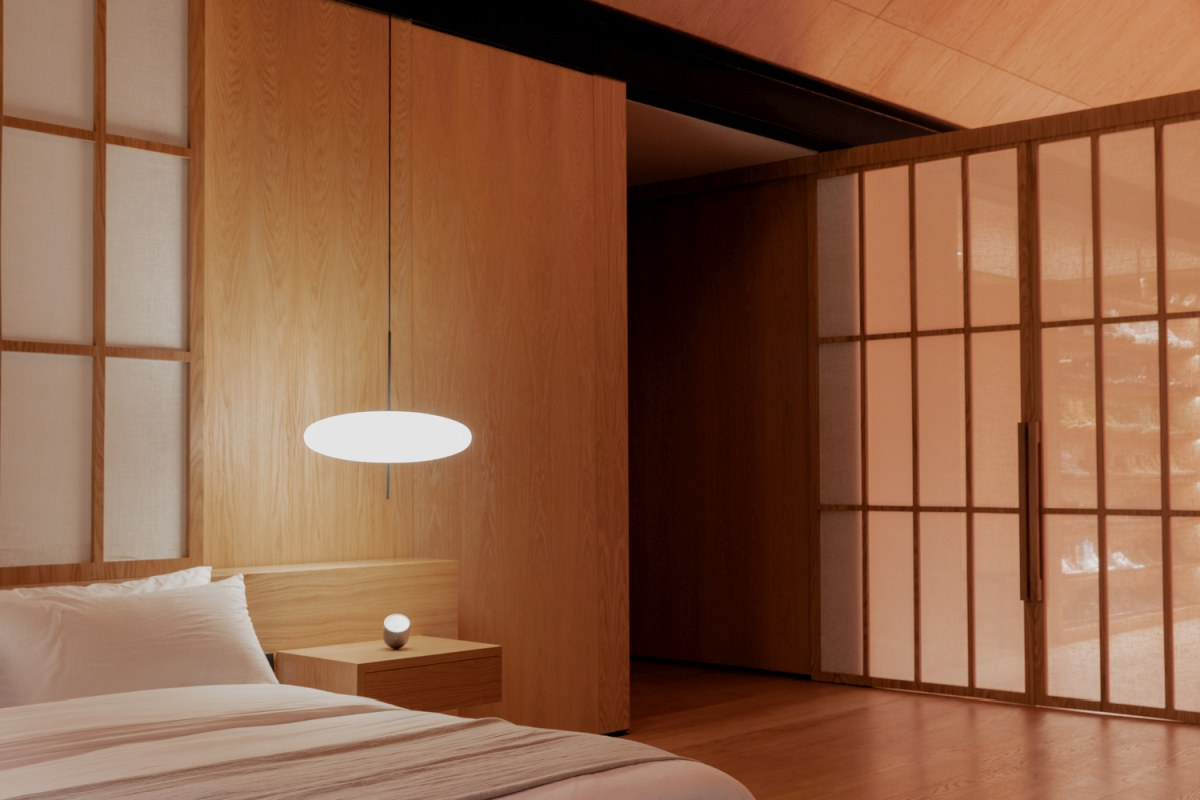 The lighting throughout the house is warm and soft which helps to create a soothing atmosphere