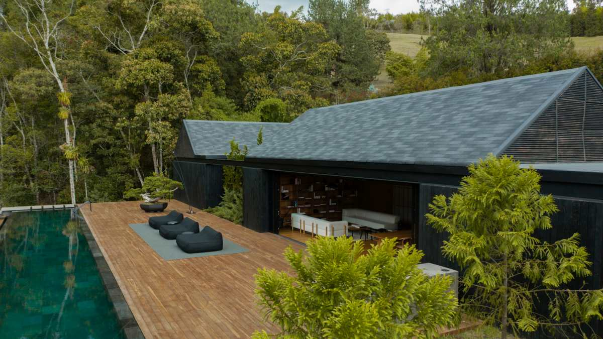 The house as a whole was conceived as a sanctuary, a tranquil place in harmony with its surroundings