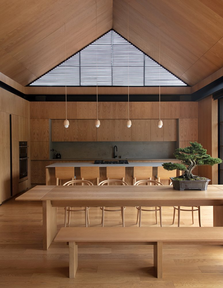 The tall roof creates a feeling of openness and lets in addition sunlight