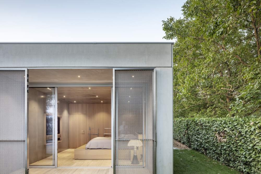 The metal screens accompany the doors and windows and help to add a layer of security to the extension