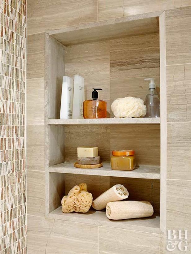 Recessed Wall Shelves diy built in