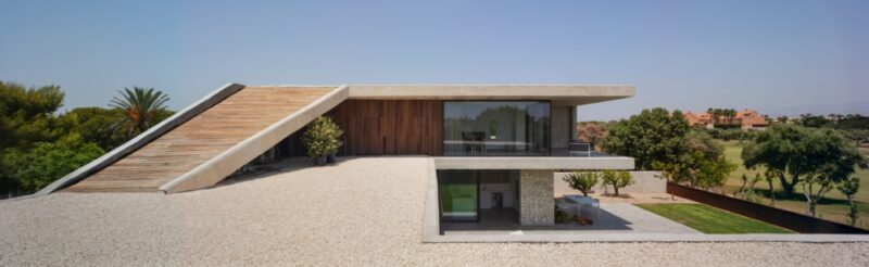A Concrete House With A Perfect View Over The Golf Course