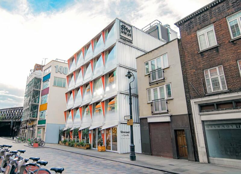 The Stow-Away Hotel in London Made Out Of Rescued Shipping Containers
