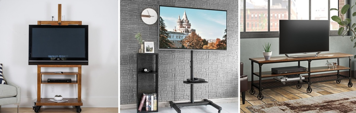 Rolling TV Stands