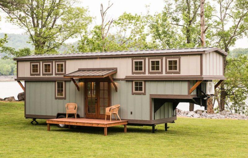Luxurious Craftsman-Style Tiny House On A Gooseneck Trailer