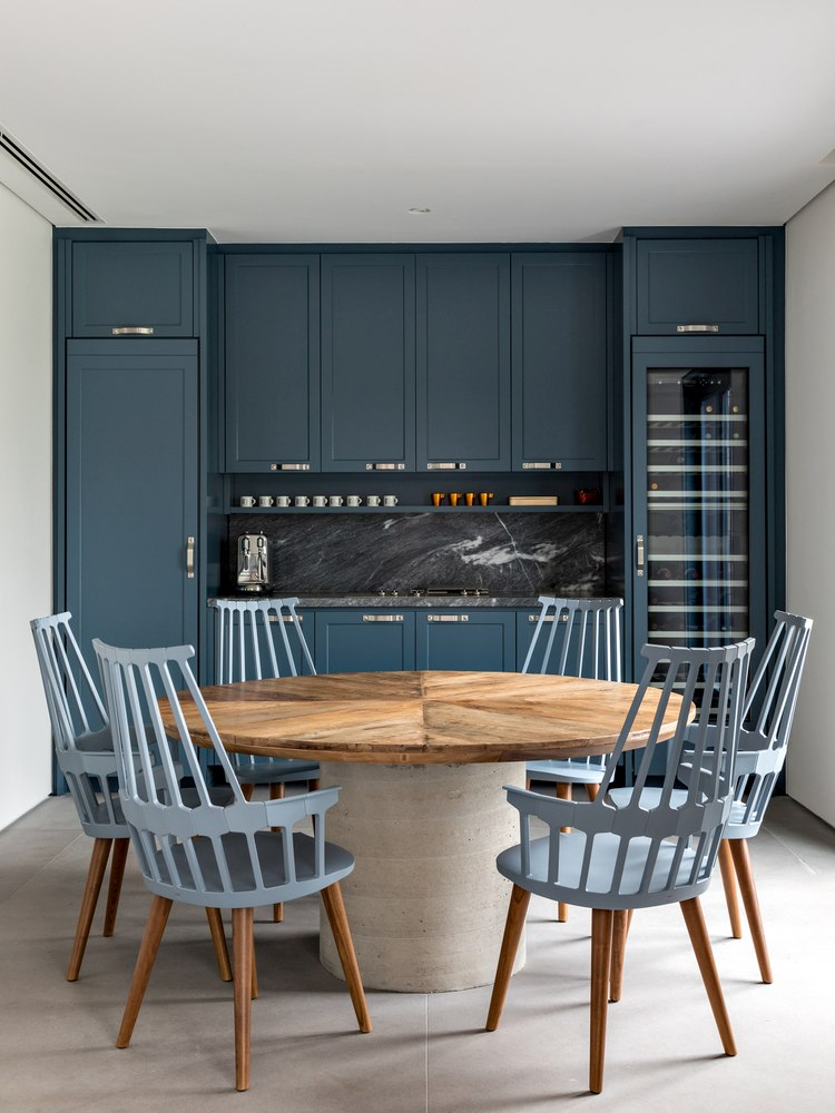 The eclectic style applies to both the exterior and the interior of all three volumes