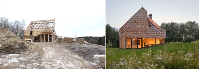 A Reconstruction Of A Wooden House On A Beautiful Remote Site