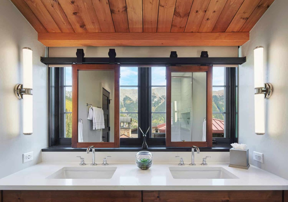 Double sink vanities and spacious bathrooms turn the bedrooms into stylish suites