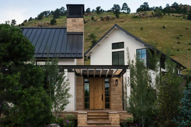 A Modern Farmhouse In Colorado Split Into Three Sections