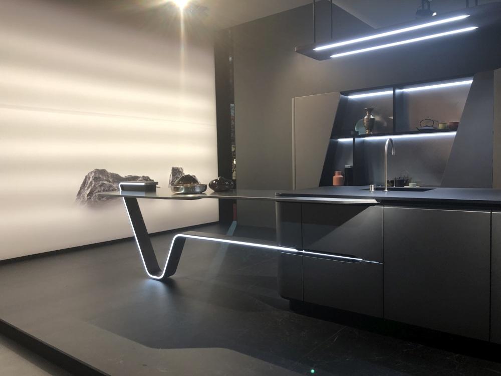 Modern kitchen design with LED Light strip