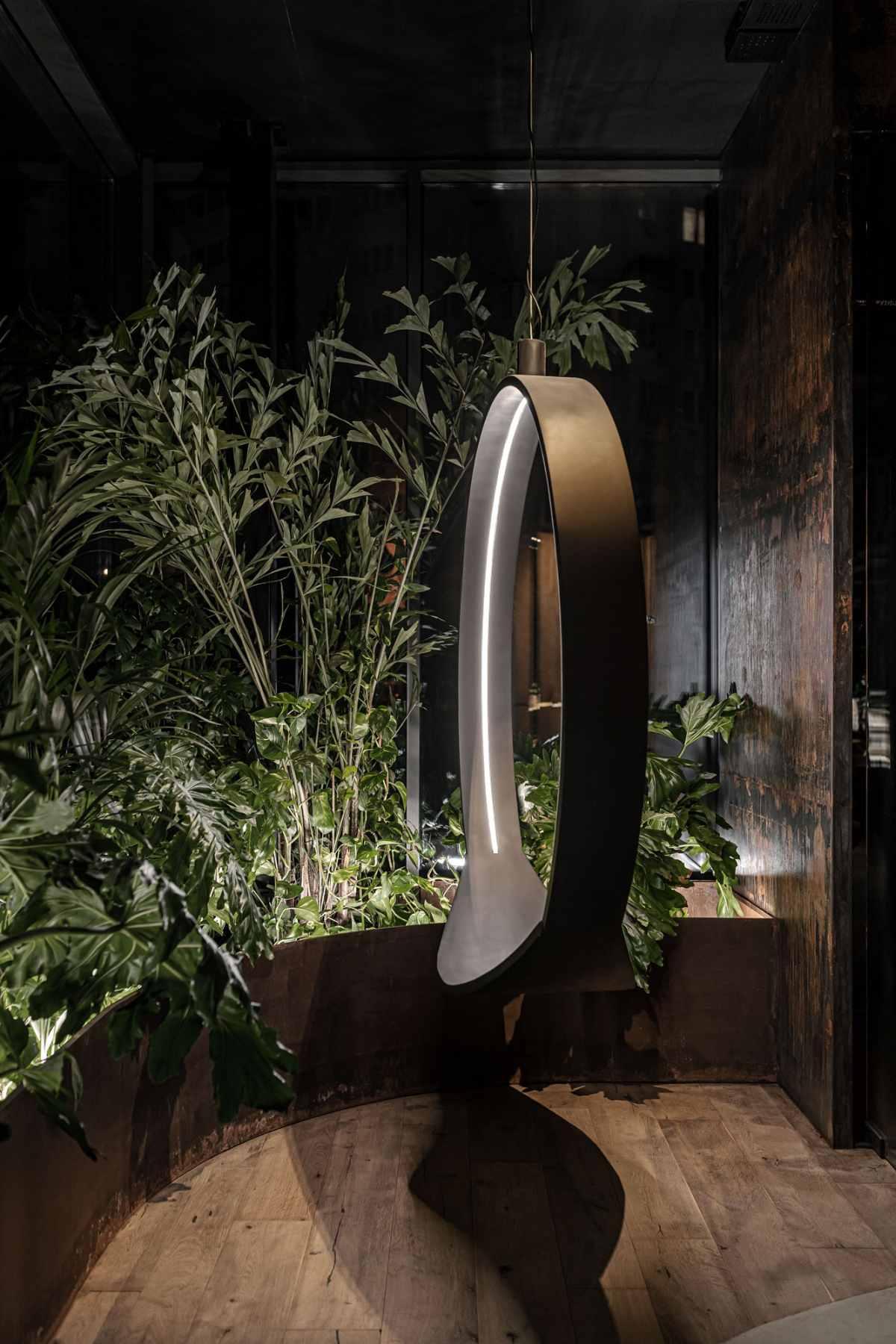 The greenery and the lighting play a very important role in the design and the identity of this place