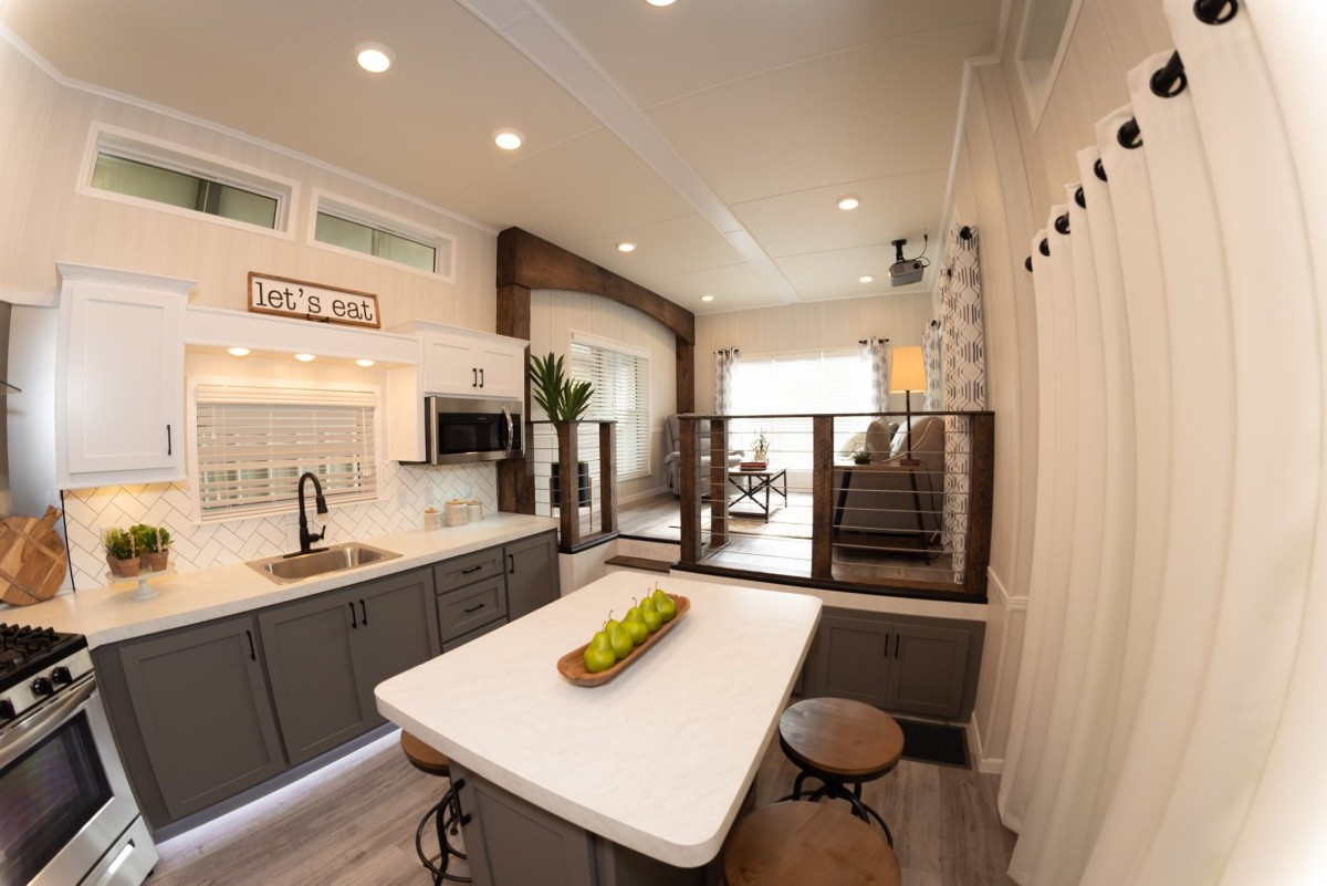 There's plenty of space in the kitchen to cook and hang out