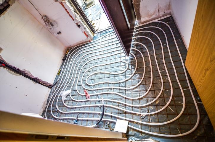 Radiant floor installation