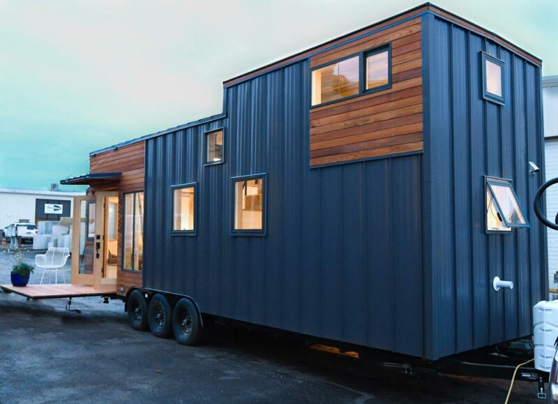 Tiny Urban Home With Two Loft Areas And A Fold-Down Deck