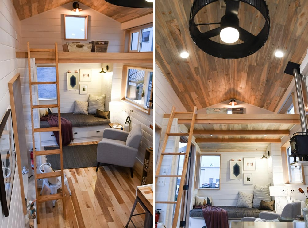 There's also another loft area above the living room which can be used for storage or something else