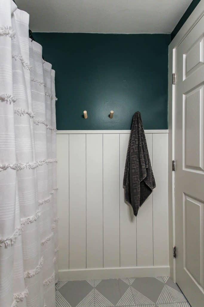 Use White Shiplap to Frame Dark Walls