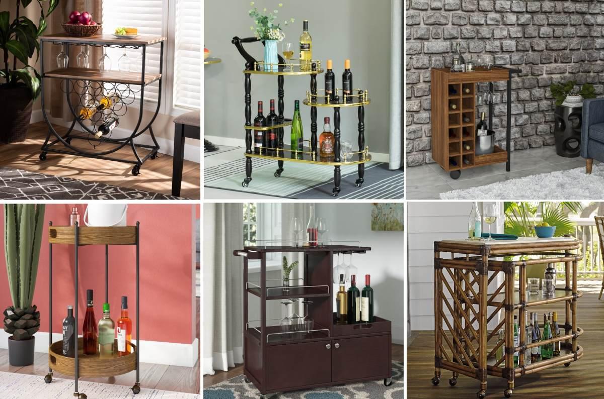 Wood Bar Carts