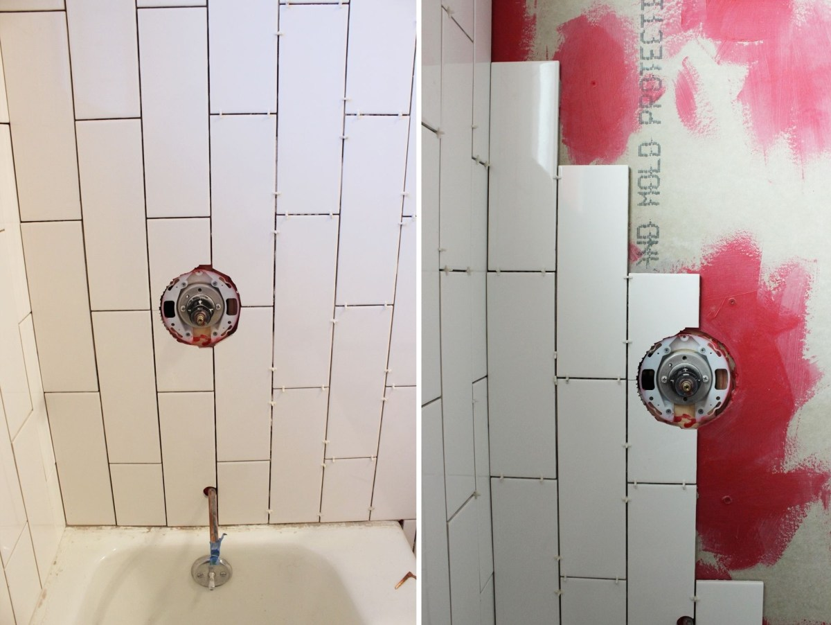 Bathroom shower tile install