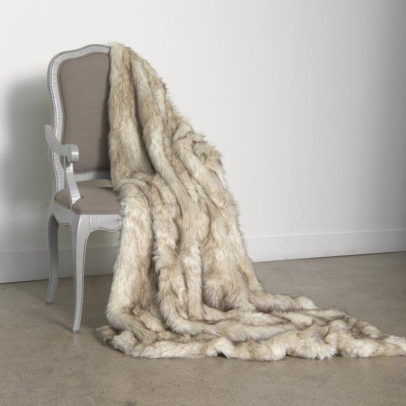 Demartino Faux Fur Throw