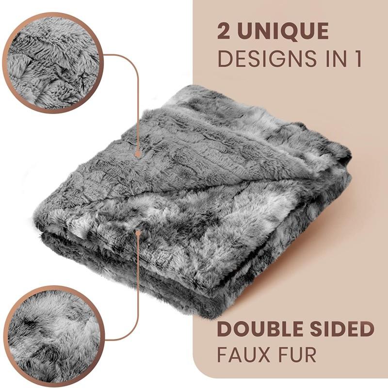 Everlasting Comfort Luxury Faux Fur Throw Blanket