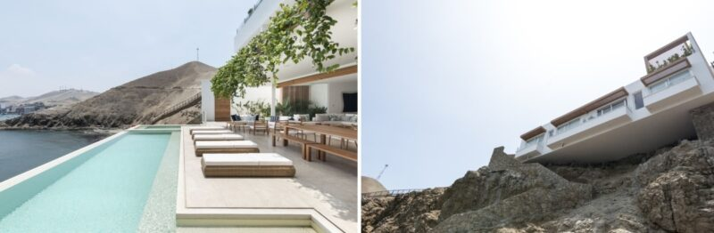 A Cliffside Beach House In Peru With Its Own Cable Car