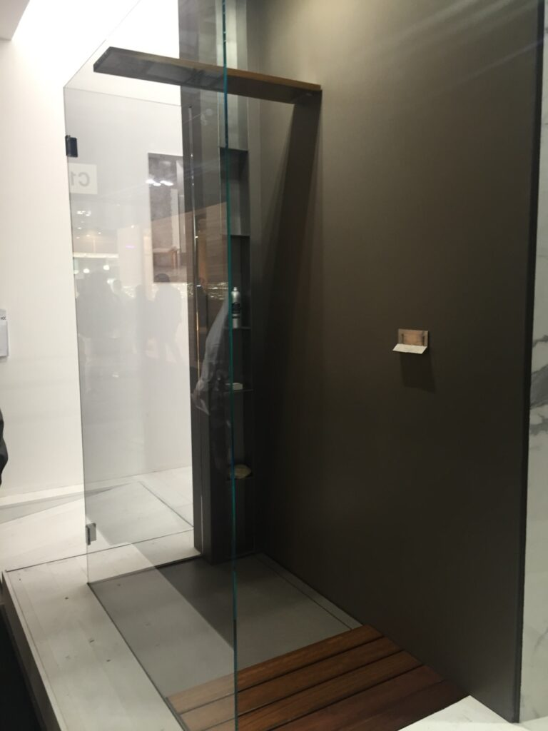 What is the best material for a walk-in shower?