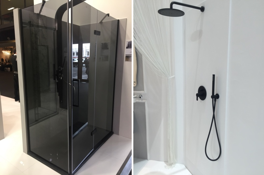 What is the difference between a shower stall and a walk-in shower?