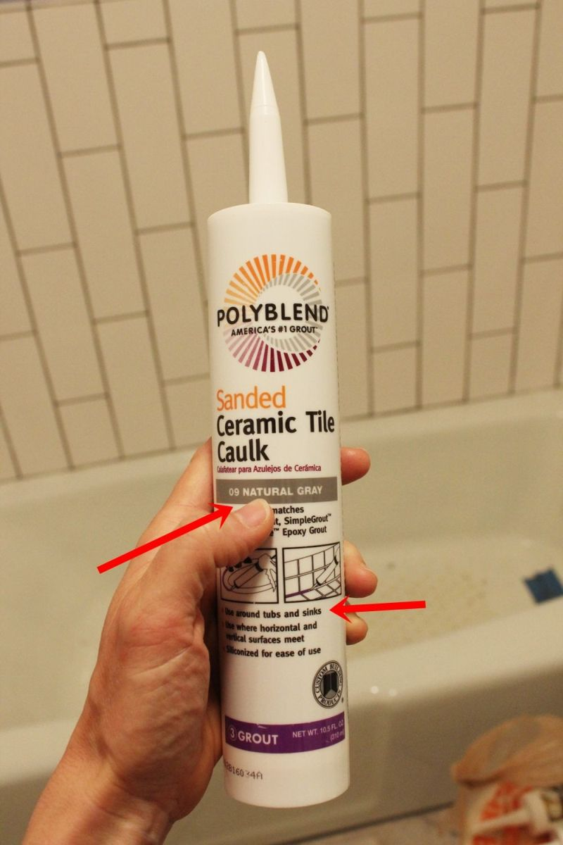 bathroom caulk natural gray