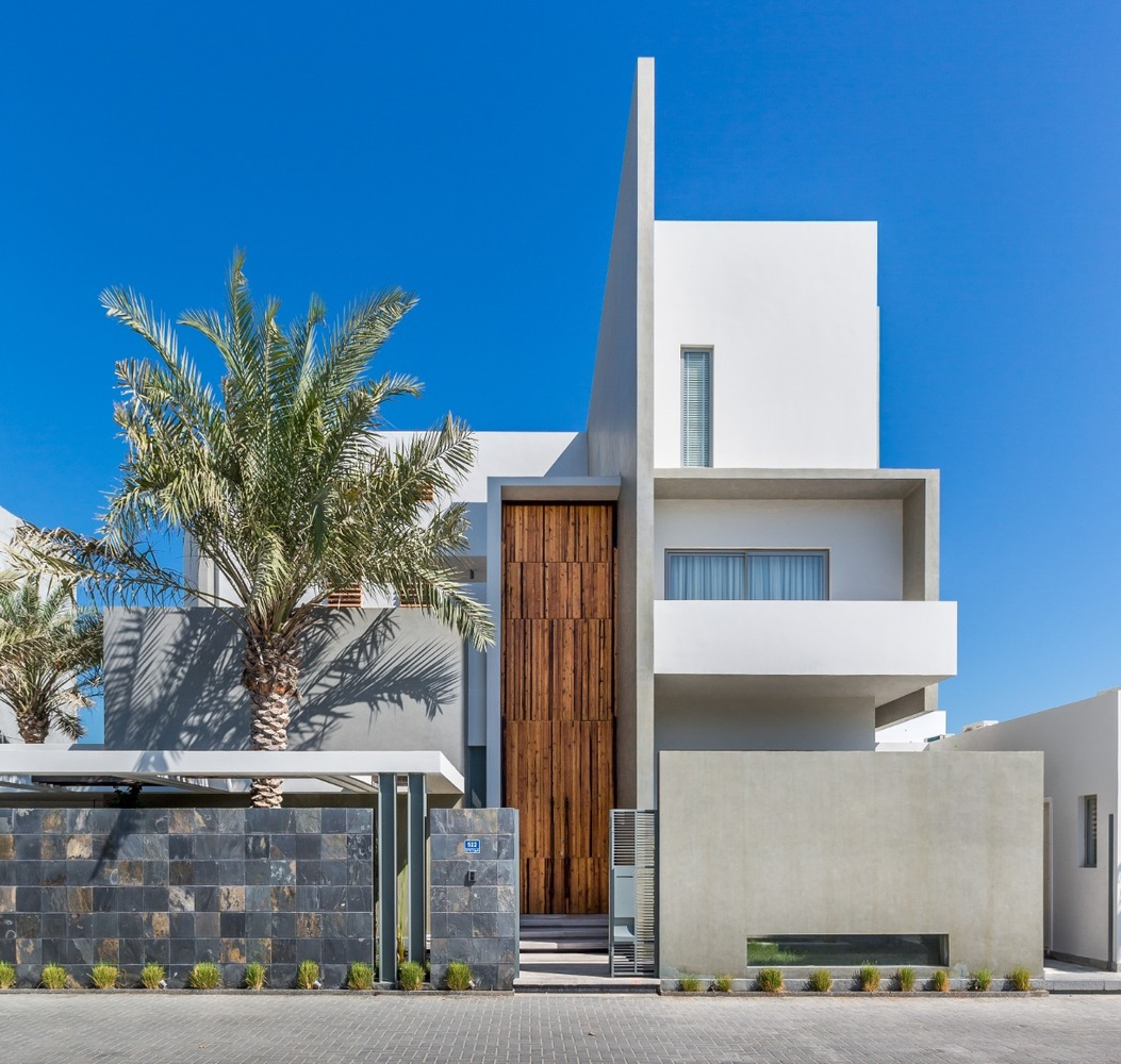 Although simple, the house features an interesting and eye-catching architecture
