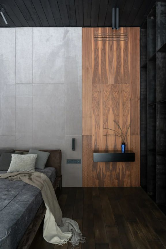 The overall design and the finishes are simple and almost austere and yet warm and inviting