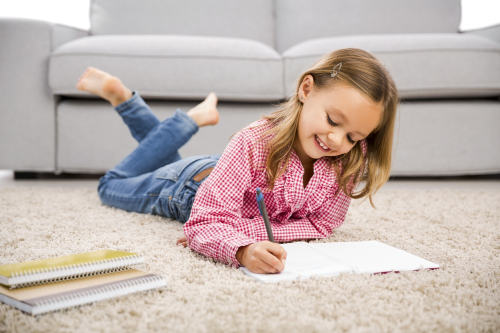 kids drawing on the floor