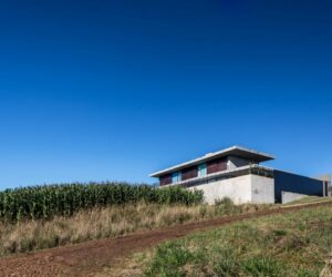Modern Concrete House At The Top Of A Beautiful Valley In Brazil