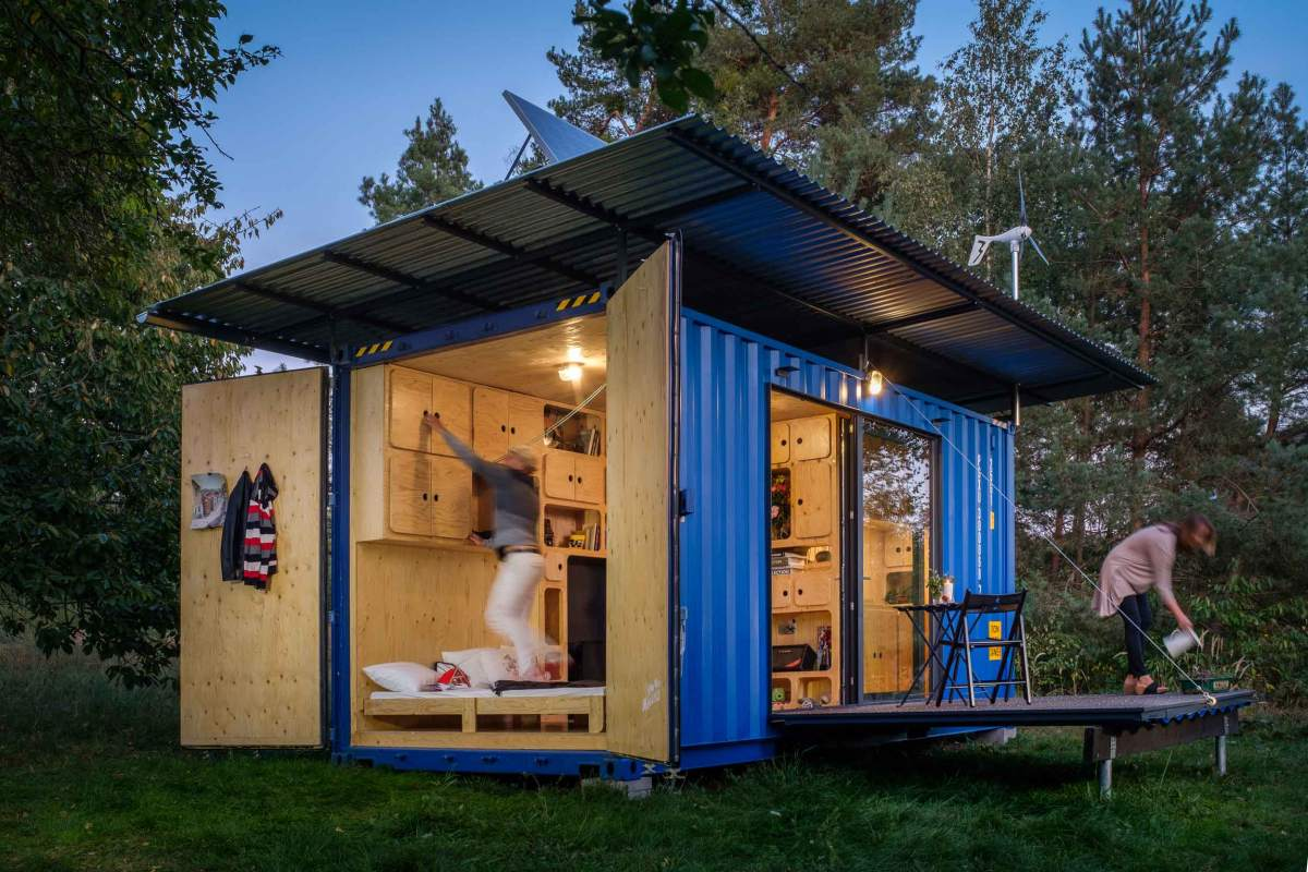 The house is built from a single repurposed shipping container