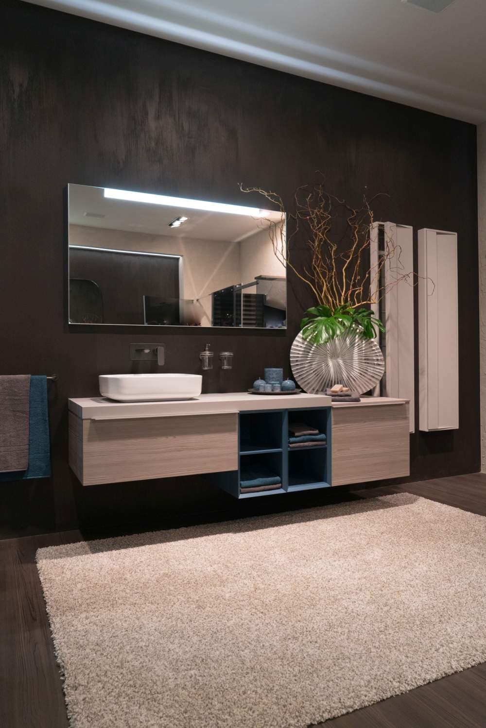 Rectangular large bathroom mirror