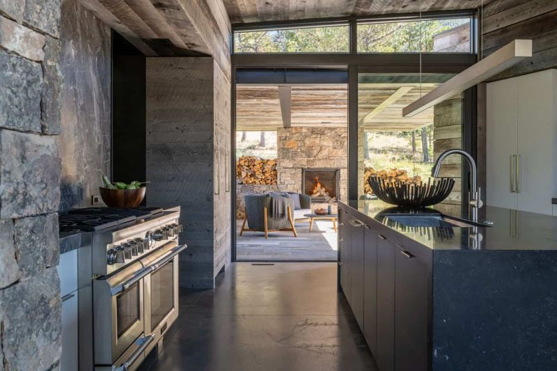 The kitchen has direct access to a covered patio