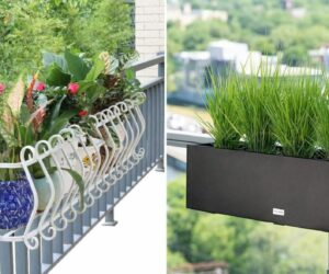 Cute and Functional Deck Rail Planter Ideas