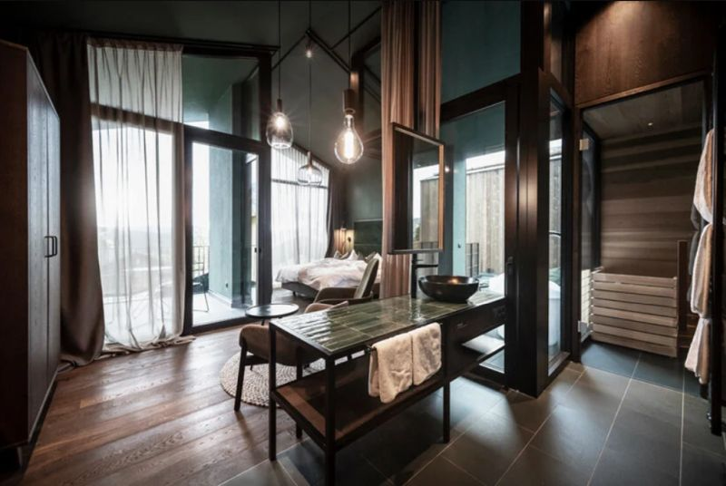 The interiors are modern, warm and welcoming and the suites enjoy their own private balconies