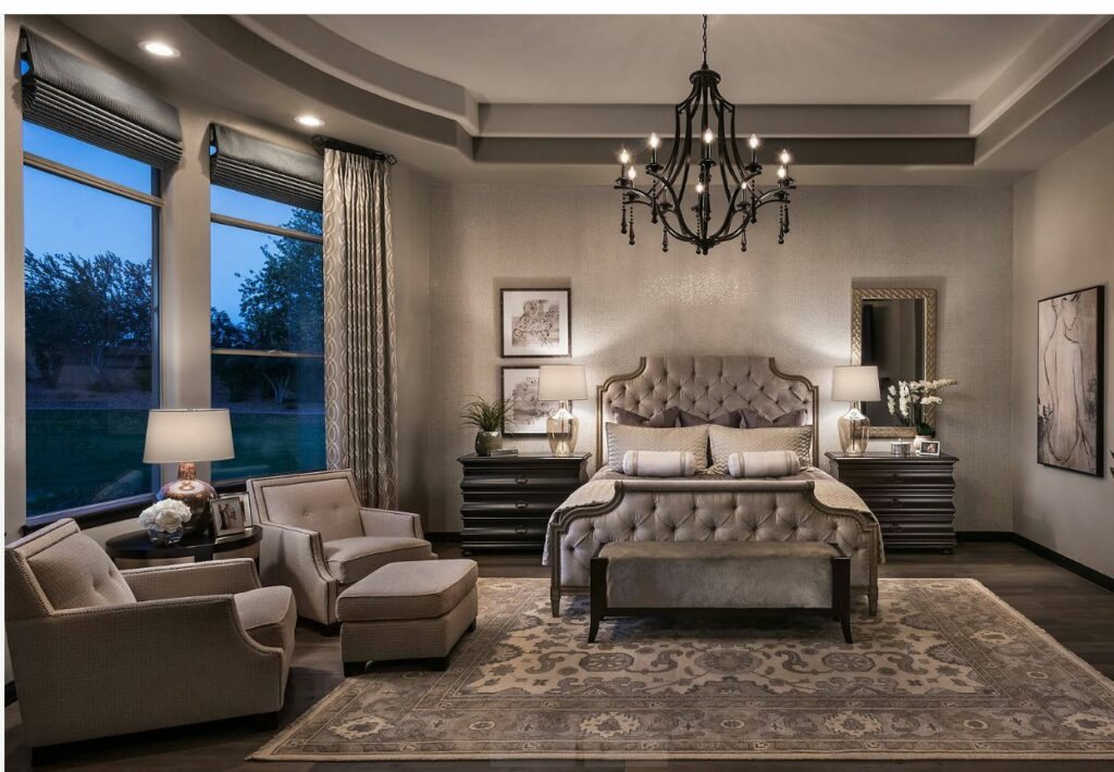 gray luxury bedroom