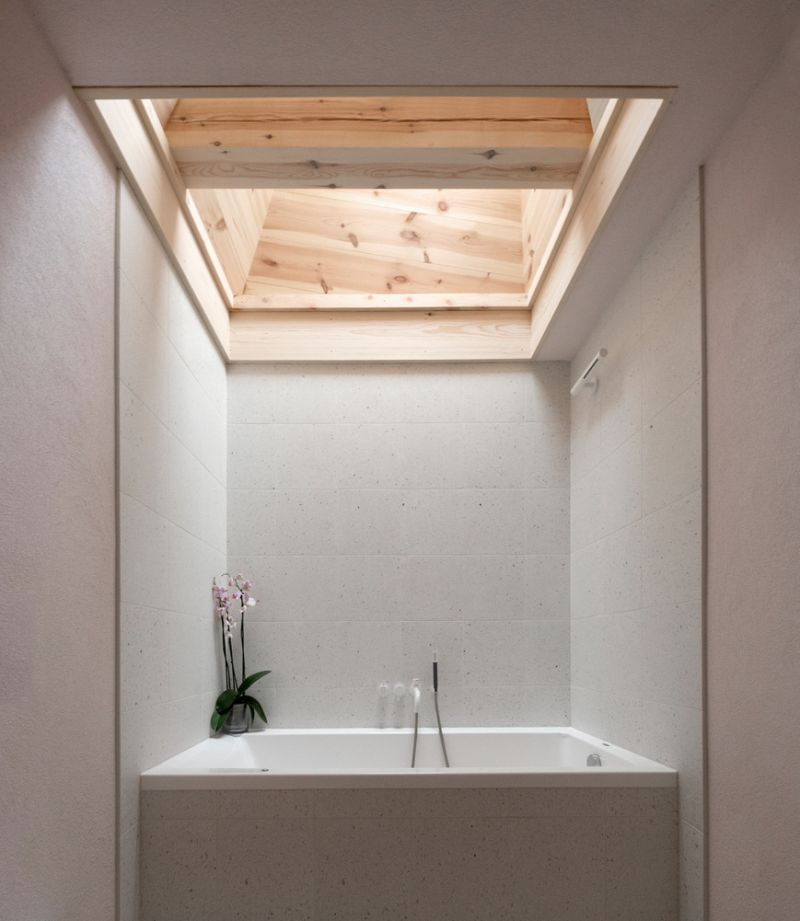 Wood was used extensively throughout the house both as a primary material and an accent one