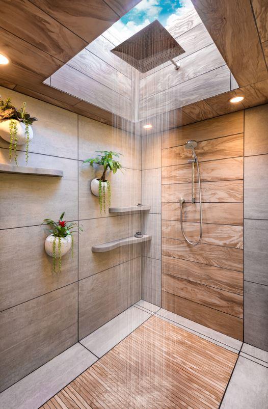 raining overhead shower faucet