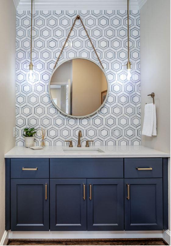 Add Wallpaper for Bathroom Decor