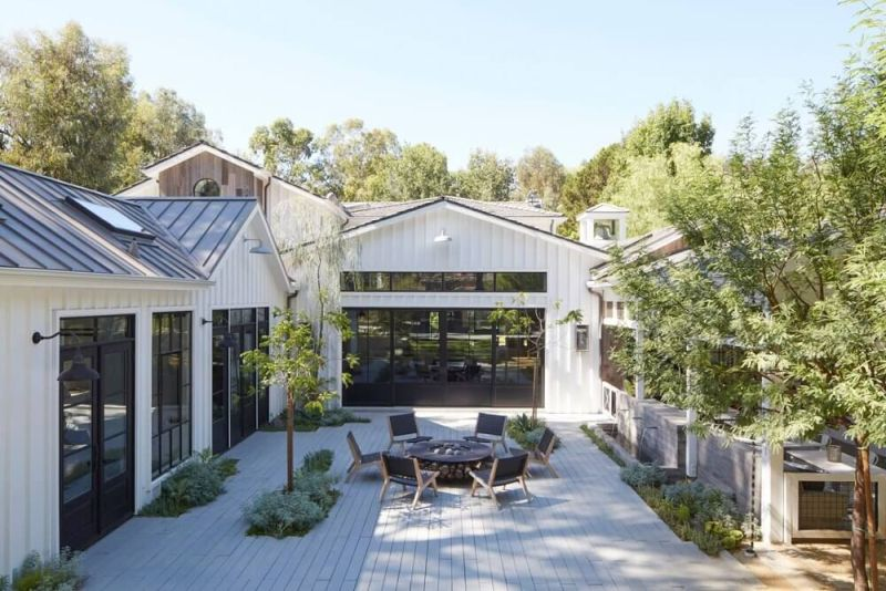 Interiors courtyard are intimate and inviting