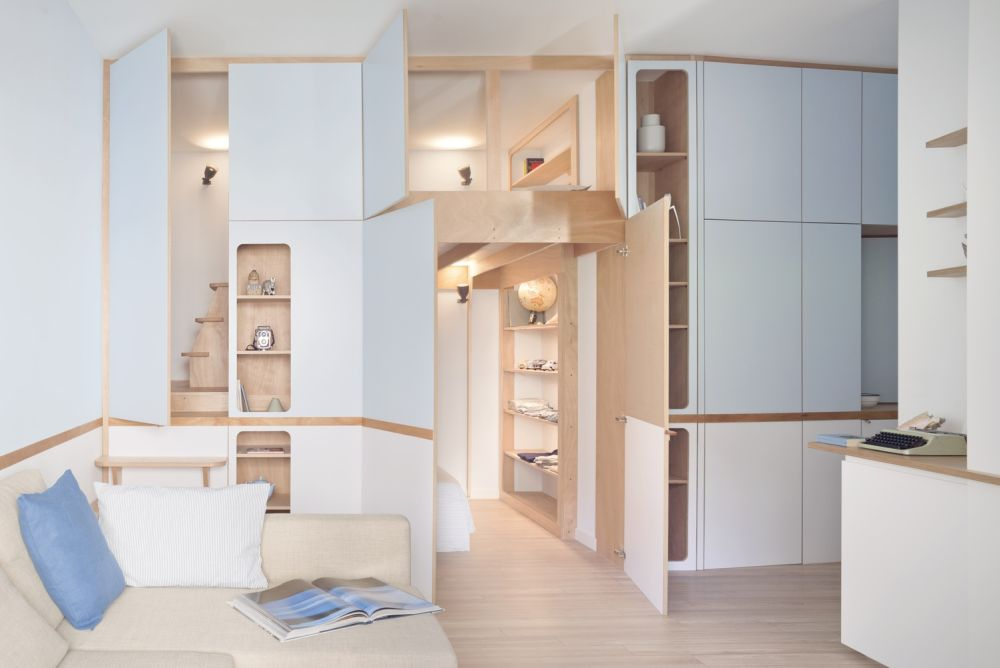 A multifunctional storage wall