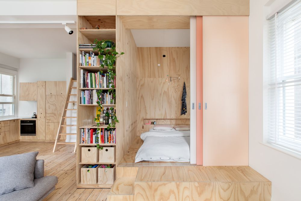 A secret closet bedroom