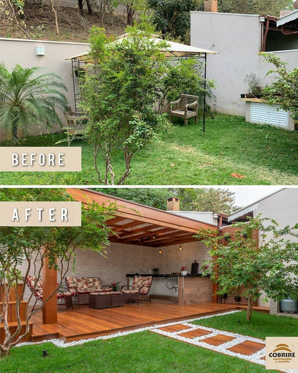 Backyard Before And After Ideas